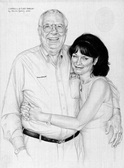 Carroll And Cleo Shelby Portrait By Kevin Geary